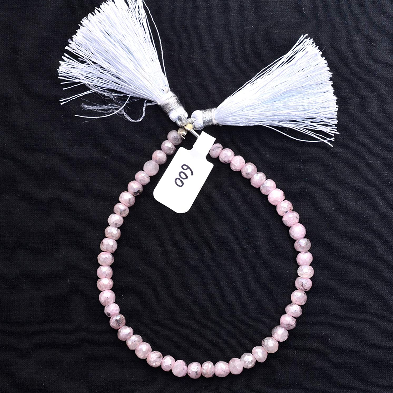 Natural Mystic Pink Grepolite, Listed by BESTINBEADS, AAA Quality Faceted rondelle Straight Drill semi Precious Gemstone Bead Strand 4 inches Long.