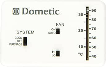 Dometic D3106995.032 3106995.032 Analog Wall Thermostat Only-Polar White