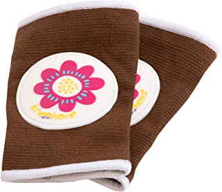 Ah Goo Baby Kneekers Baby Knee Pads for Crawling, Unisex, Power Pedal Toffee Pattern, for Lean Legs