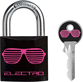 Master Lock Luggage Lock, Black and Pink, 5mm