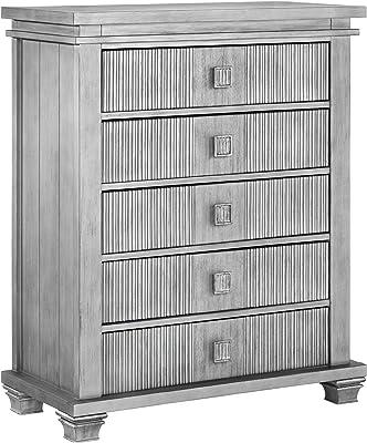 Oxford Baby Mayfield 5 Drawer Dresser, Antique Silver