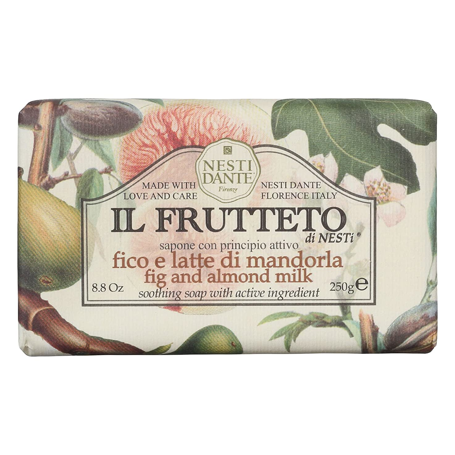 居心地の良いトランク投票ネスティダンテ (Nesti Dante) フルッテートソープ フィグ&アーモンドミルク 250g