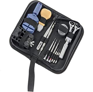 SportsMax Watch Repair Tool Kit with Zippered Bag Case(13 Piece)