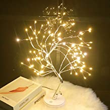 Tabletop Bonsai Tree Light - 20'' Fairy Light Spirit Tree Lamp with 108 LED Lights,DIY Lit Artificial Tree Lights Decorati...