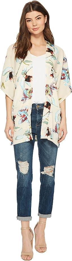 Hibiscus Contemporary Kimono