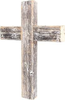 BarnwoodUSA Decorative Cross, Rustic Christian Home Decor, Recycled Wood (Weathered Gray)