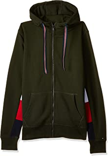 Tommy Hilfiger Zip Up Hoodie for men in Olive, Size:Large