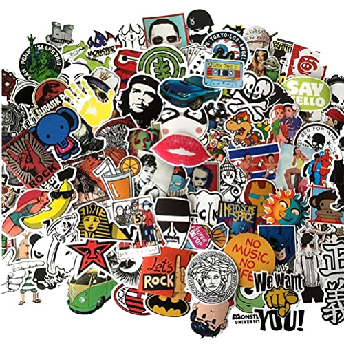 Fngeen Random Sticker 50-500pcs Variety Vinyl Car Sticker Motorcycle Bicycle Luggage Decal Graffiti Patches Skateboard Stickers for Laptop Stickers (50pcs)