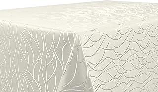Nappe en damast - Motif abstrait - Infroissable - Rectangulaire, ovale ou ronde - Dimensions et couleur au choix, Polyeste...