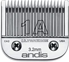 Andis Carbon-Infused Steel UltraEdge Clipper Blade, Size-1A, 1/8-Inch Cut Length (64205)