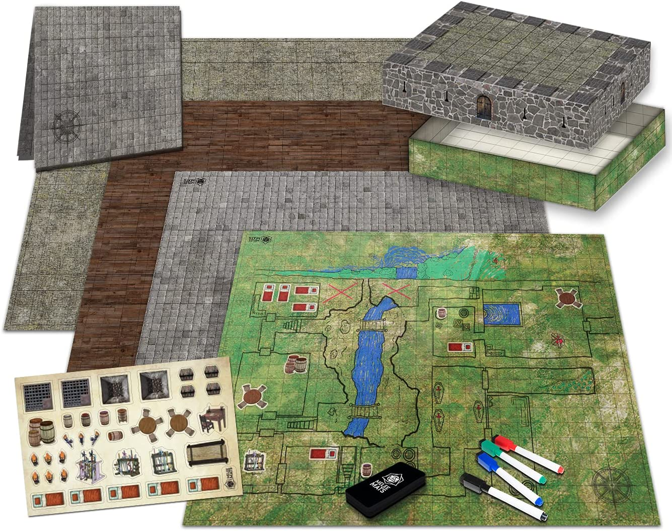 Ultimate Battle Grid Game Board 2021new shipping free - Min Erase Square Dry Hex RPG Raleigh Mall