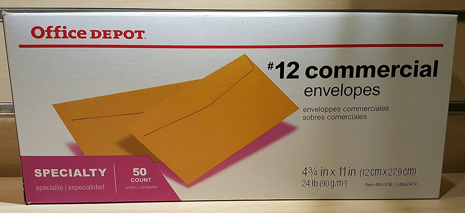 Office Depot Brand Commercial Classic Envelopes #12 11