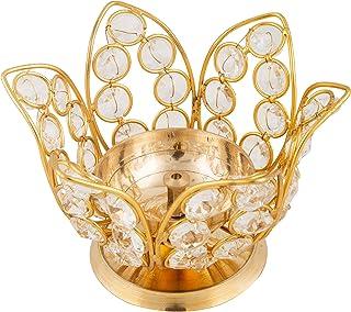 Shubhkart Crystal Floral Oil Lamp