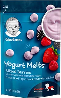 Gerber Yogurt Melts Freeze-Dried Yogurt Snack, Mixed Berries 1 Ounce (Pack of 7)