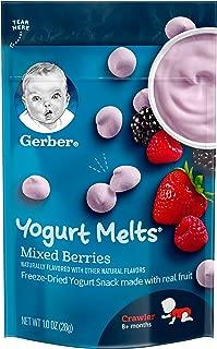 Gerber Yogurt Melts Freeze-Dried Yogurt Snack, Mixed Berries 1 Ounce (Pack of 7)