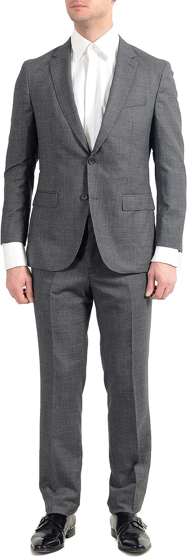 Hugo Boss Novan6/Ben2 Men's 100% Wool Slim Gray Two Button Suit US 36S IT 46S