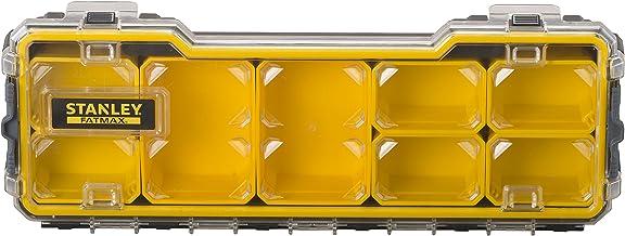 STANLEY FATMAX Pro 1/3 Ondiepe stapelbare opbergorganizer voor kleine onderdelen, verwijderbare vakken, FMST1-75781