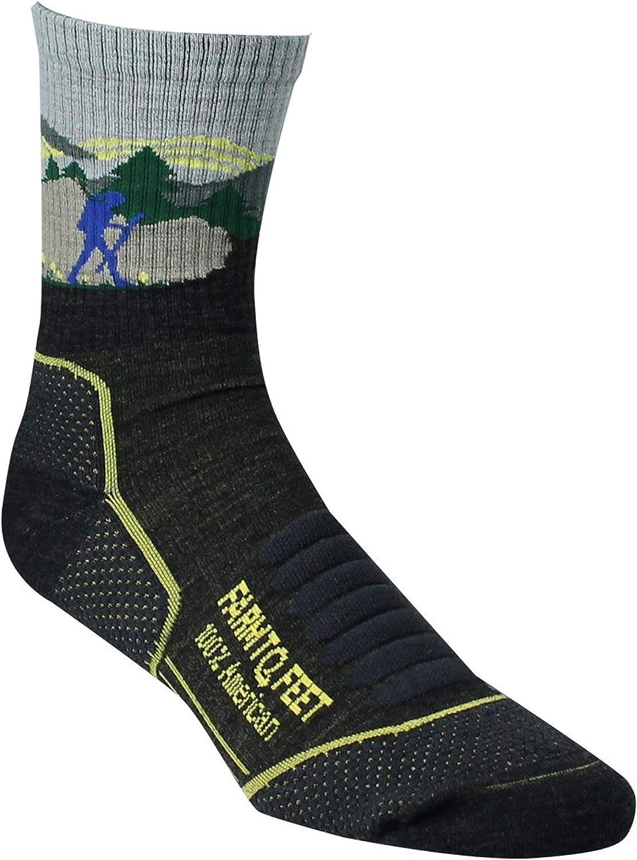 Farm to Feet Unisex Blue Ridge 3/4 Lightweight Technical Hike Merino Wool Crew Socks