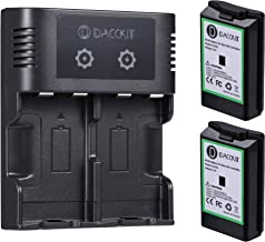 D DACCKIT Rechargeable Battery with Dual Charging Station...