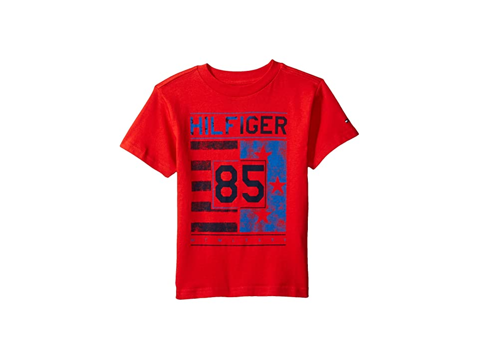 Tommy Hilfiger Kids All-American Graphic Tee (Toddler/Little Kids) (Ripe Tomato) Boy's T Shirt