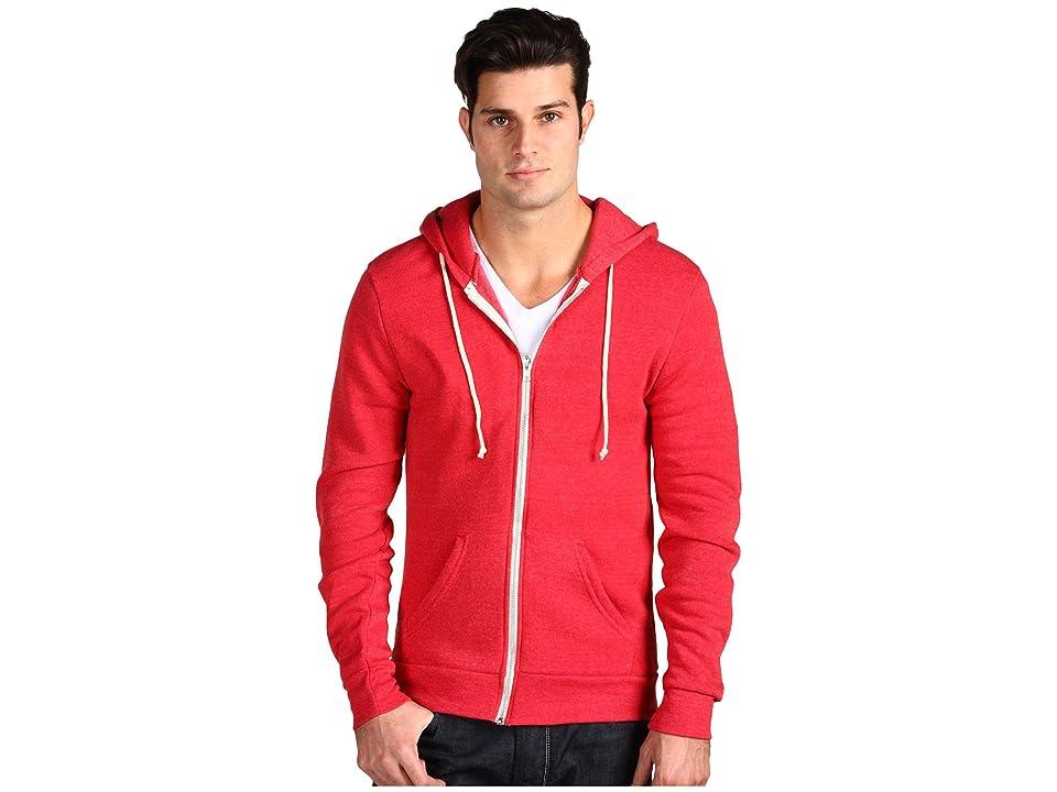 Alternative Rocky Zip Hoodie (Eco True Red) Men
