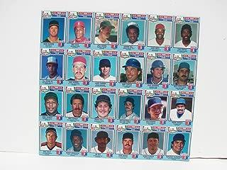 1988 Chef Boyardee Complete Baseball Card Set Uncut Sheet Mark McGwire Ripken
