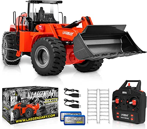 high quality 1:14 Scale 22 Channel Full Functional Remote Control new arrival Front Loader Construction Tractor, Full Metal Bulldozer Toy - Can Dig sale up to 3.5Lbs online