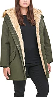 Women's Faux Fur Lined Hooded Parka Jacket (Standard and...