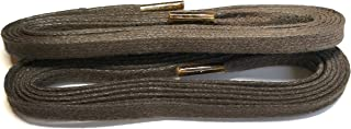 Men's Brown Flat Waxed Laces 48