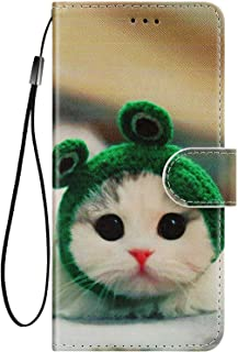 Felfy Kompatibel med Huawei P40 Pro fodral plånbok, varg lejon katt blomma tiger mönster skyddande fodral magnet vikbart f...