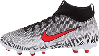 Youth Neymar Superfly 6 Academy MG Soccer Cleats (White/Challenge Red/Black) (5.5Y)