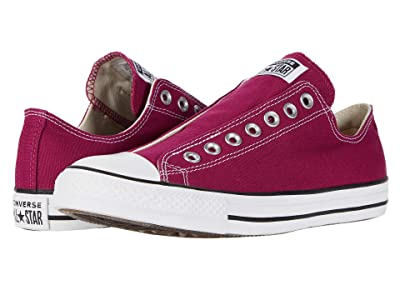 Converse Chuck Taylor All Star Seasonal Slip-On (Rose Maroon) Athletic Shoes