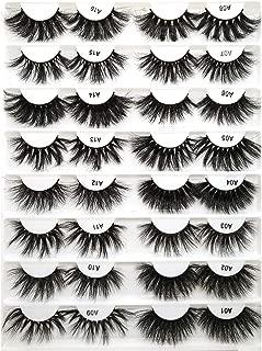 100% Mink Eyelashes False Eyelashes Crisscross Natural Fake Lashes Length 25Mm Makeup 3D Mink Lashes Extension Eyelash Beauty,A13