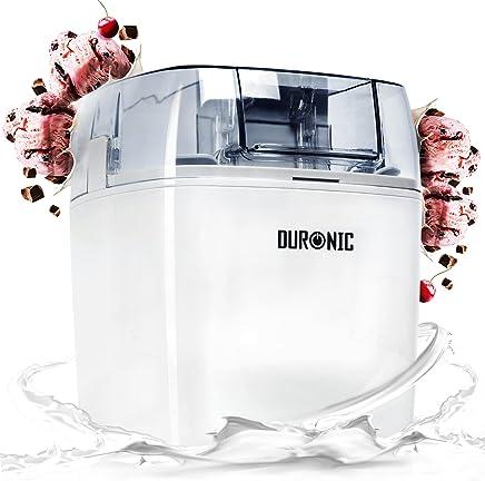 Duronic IM540 Heladera 1,5 L para Helados, Sorbete y Yogur Helado Máquina para Hacer Helados Bajo Consumo Helados en 15-30 Minutos Incluye Recetas