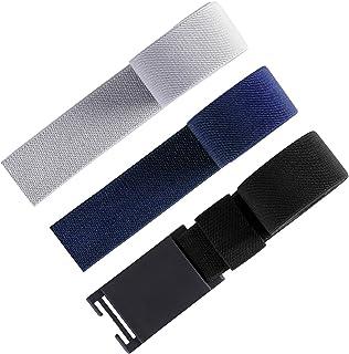 3Pcs Interchangeable Magnetic Buckle Belt - Boys and Mens Adjustable Elastic Belts
