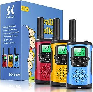 Supker Walkie Talkies for Kids 3Pack, 22 Channels 2 Way Radio Toy , Kids Talks Toy for 3-12 Year Old Boys Girls Gift, 3 Mi...