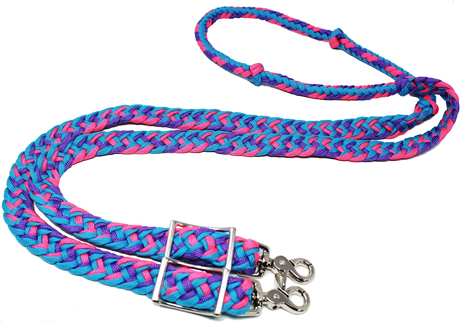 CHALLENGER Horse Nylon Braided Knotted Reins Finally popular brand Turqu Factory outlet Roping Barrel