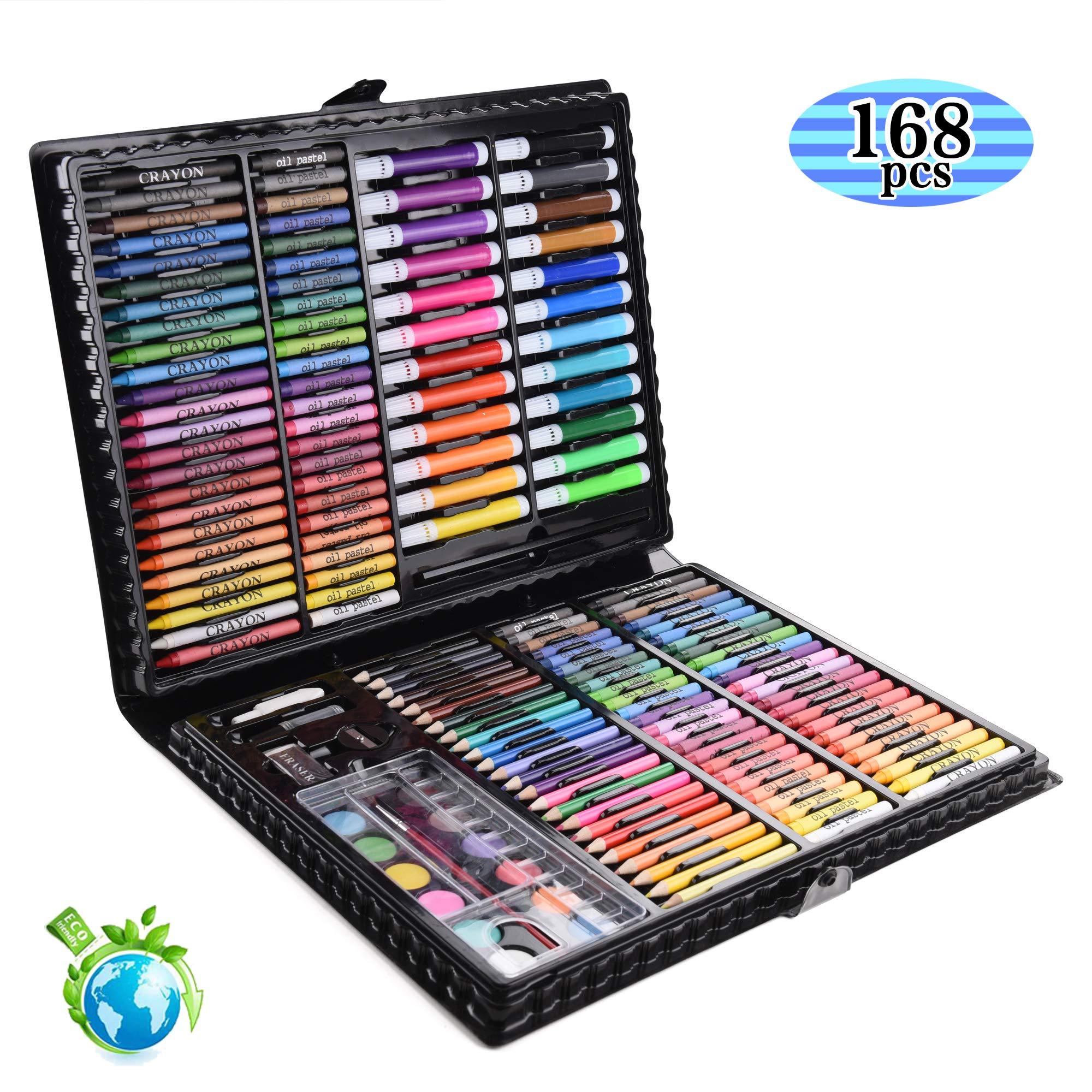 XY COOL Crayola Inspiration Art Case - Kit de Manualidades para niños - 168 Piezas,Caja Colores Niños, Lapices De Colores, Lapices De Colores Niños, Conjunto de Pintura (A): Amazon.es: Juguetes y juegos