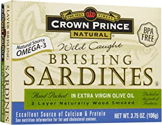 Crown Prince Brisling Sardines, In Olive Oil, 3.75 oz
