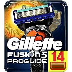 Gillette Fusion5 ProGlide, Pack 14 Cuchillas de Recambio