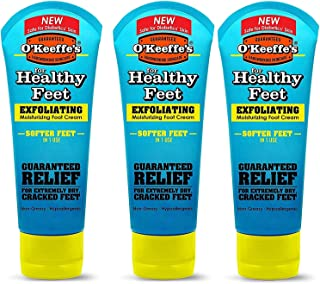 (3) - O'Keeffe's Healthy Feet, Exfoliating Foot Cream, 90ml Tube - 3 Pack