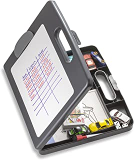 Officemate Clipboard Box for Activities with Dry Erase Board, Letter/A4 Size, Charcoal (83383)