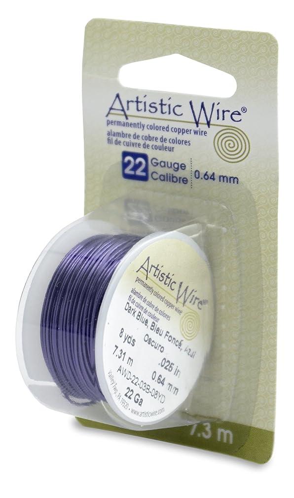 Artistic Wire 22-Gauge Dark Blue Wire, 8-Yards