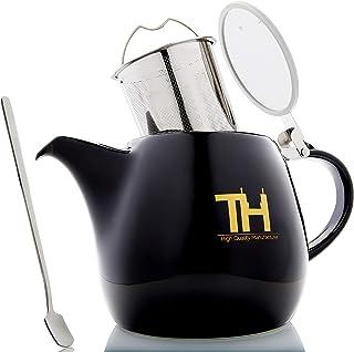 Thiru Teekanne mit Siebeinsatz | 1200ml | Tropffreier Teebereiter 1,2 Liter