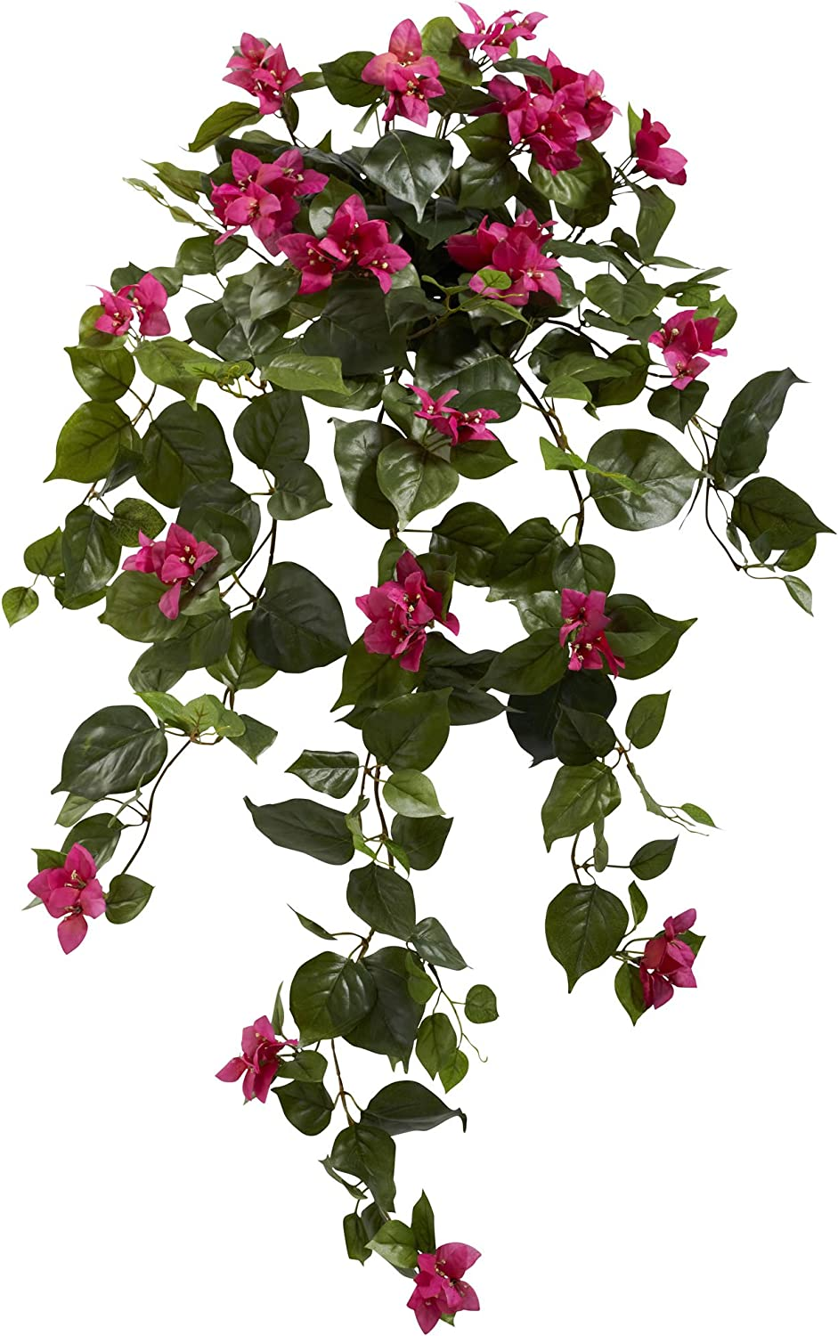 Nearly Natural 37 Bougainvillea Hanging Set Of 2 Artificial Plant Beauty Furniture Decor