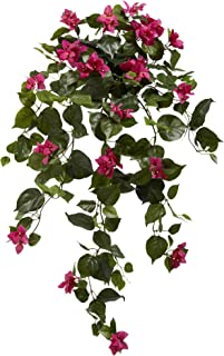 """نباتات صناعية معلق بوغانفيلي ناتشورال 6102-S2-BU 37"""" (مجموعة من 2)، جمال"""