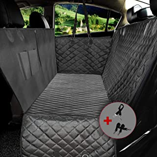 YIHATA Waterproof Dog Car Seat Covers Dog Covers for Back seat Zipper Design Compatible for All Cars