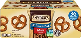 Snyder's of Hanover Mini Pretzels, 100 Calorie Individual Packs (Pack of 36)