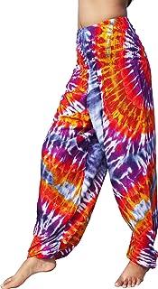 Full Funk Beautiful Rayon Smock Waist Pants Pocket Mixed Tie Dye