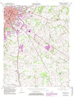 YellowMaps Hopkinsville KY topo map, 1:24000 Scale, 7.5 X 7.5 Minute, Historical, 1956, Updated 1983, 27.4 x 22.5 in